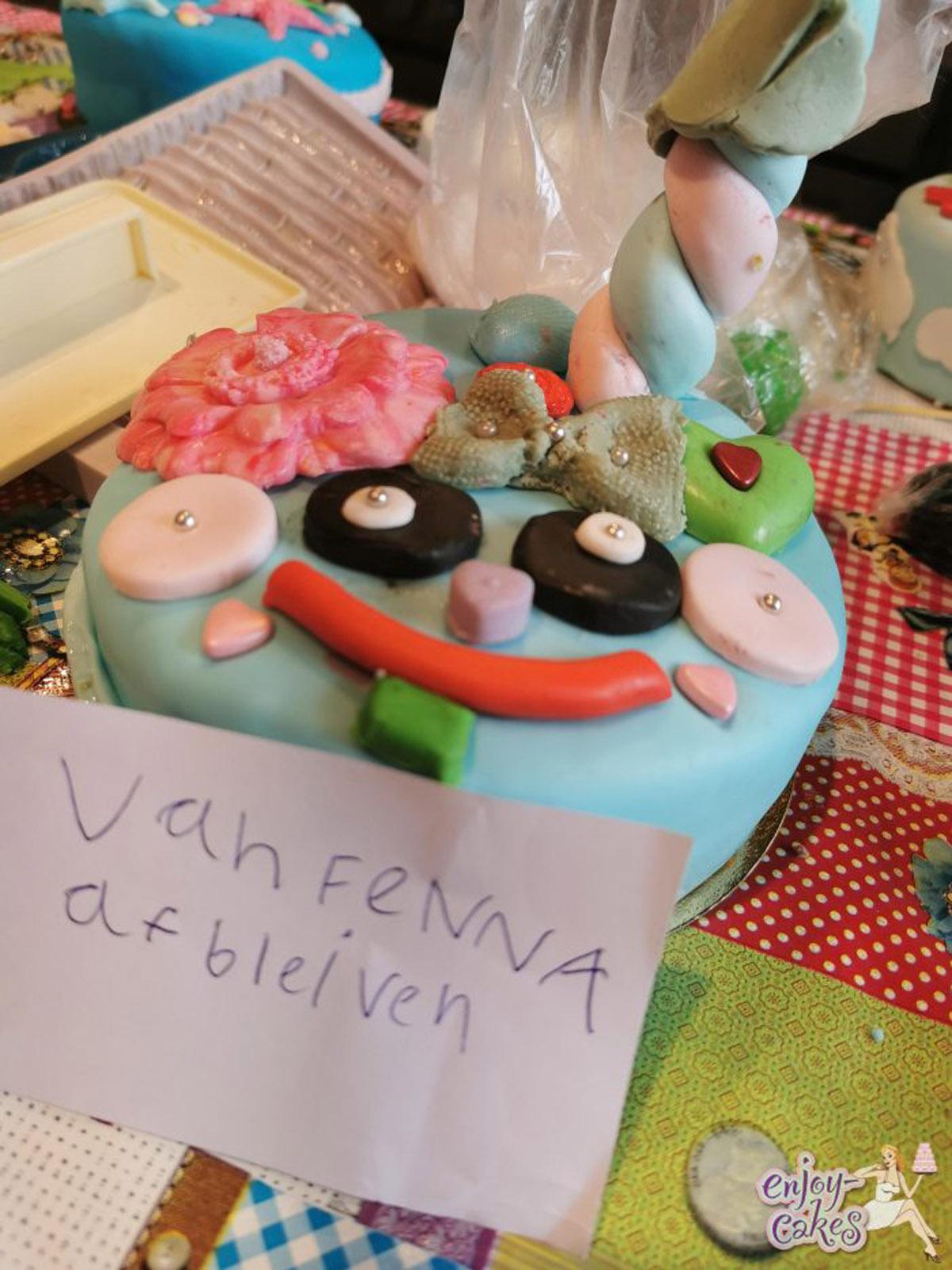 Kinderfeestje taart maken