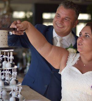 Bruidstaart met cakepops