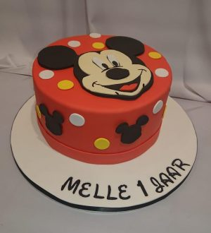 Mickey mouse taart melk vrij