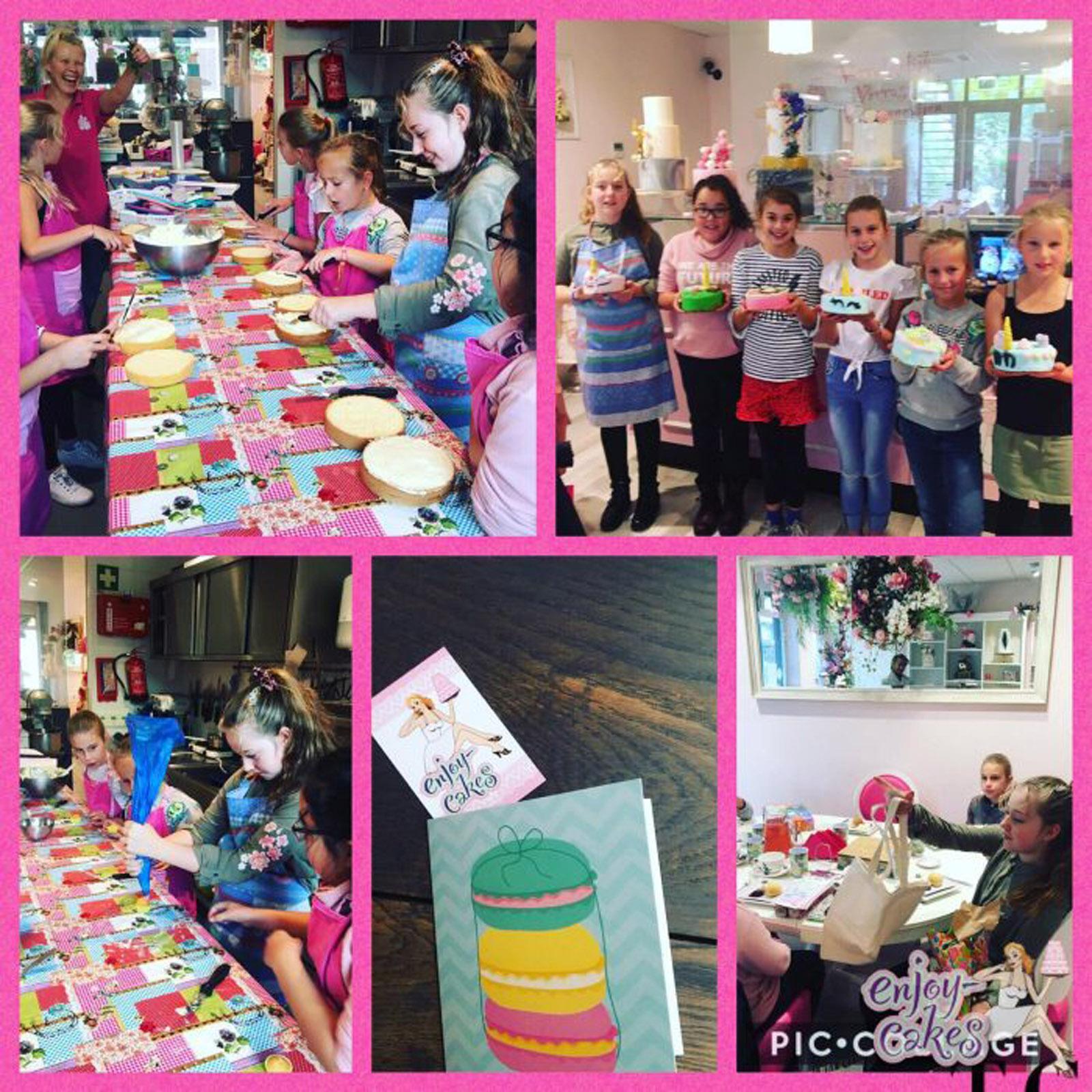 Kinderfeestje high tea en taarten maken