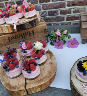 Exclusief bruidsgebak met vers fruit