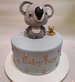 Babyshowertaart met koala