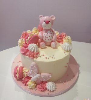 Babyshower taart met beertje