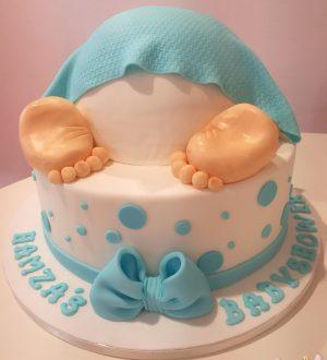 Babyshower babybillentaart