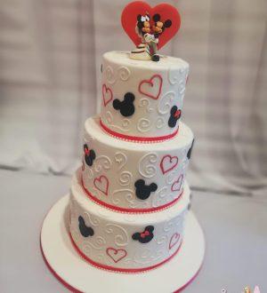 Mickey en minnie bruidstaart