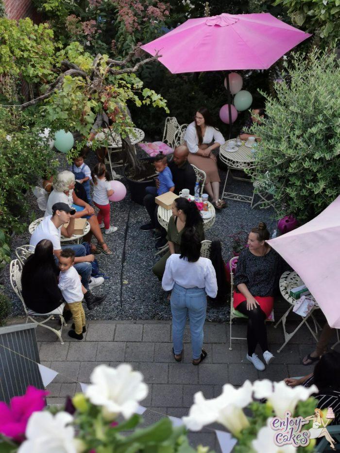 Verjaardagsfeest in de tuin van enjoy-cakes