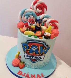 Paw Patrol snoep taart