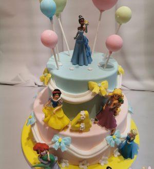 Prinsessentaart met ballonnen