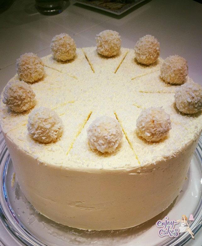 Rafaello taart 6 personen