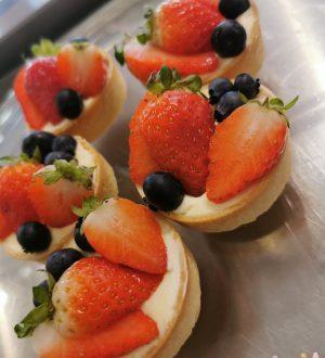 Tartelettes met vers fruit