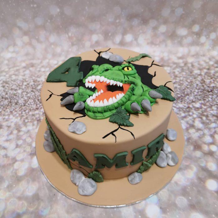 T-rex taart