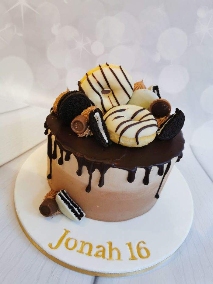 Chocolade donut taart