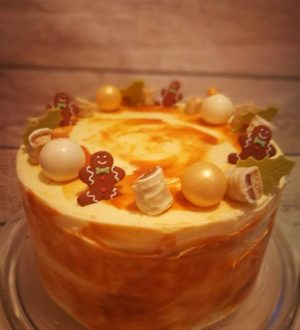 Kerst twix taart