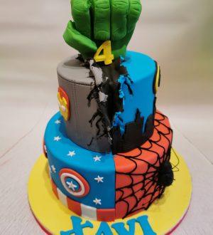 Super hero taart, marvel taart