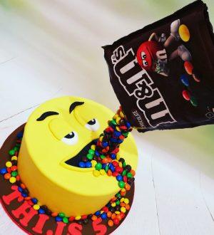 M & M taart