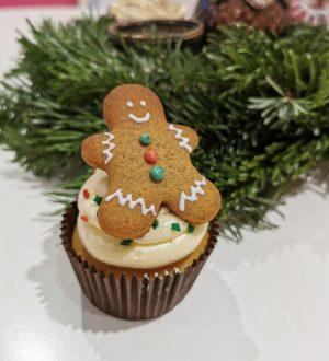 Cupcake met gingerbreadmannetje
