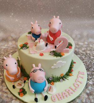 Peppa Pig taart
