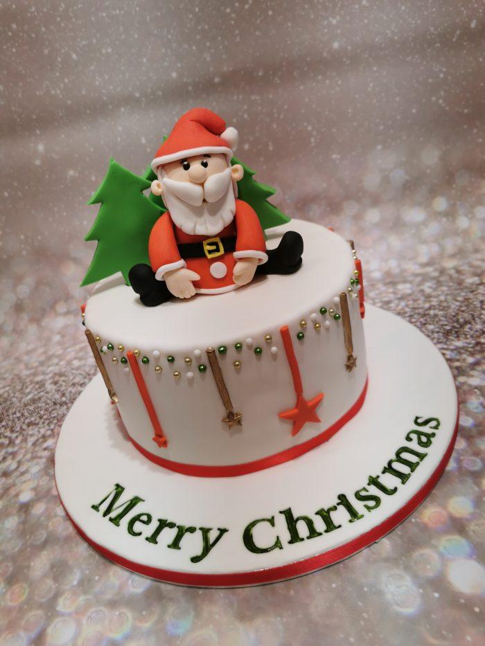 Kerstman taart