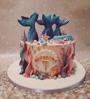 Mermaid taart