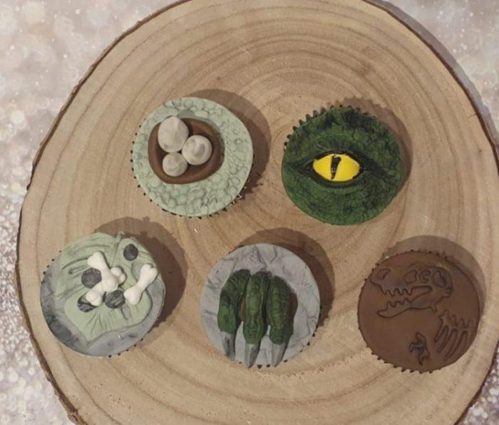 Dinosaurus cupcakes