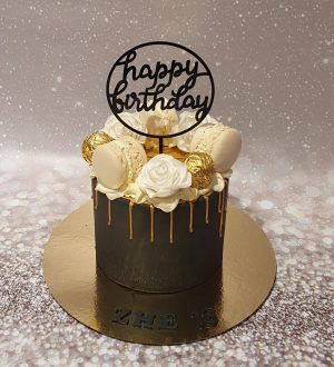 Black gold ladycake