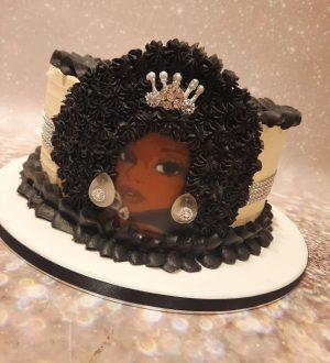 Afrolady cake