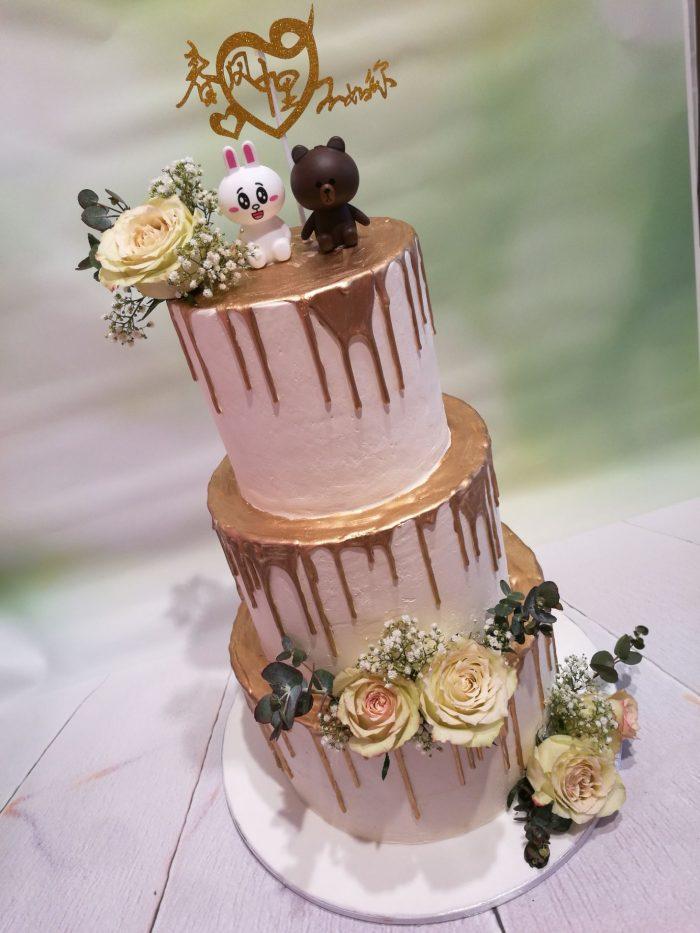 Golden Dripp Weddingcake