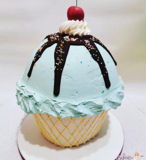Giant IJs Cupcake