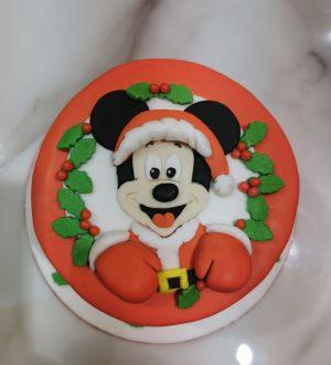 Mickey Mouse Kersttaart