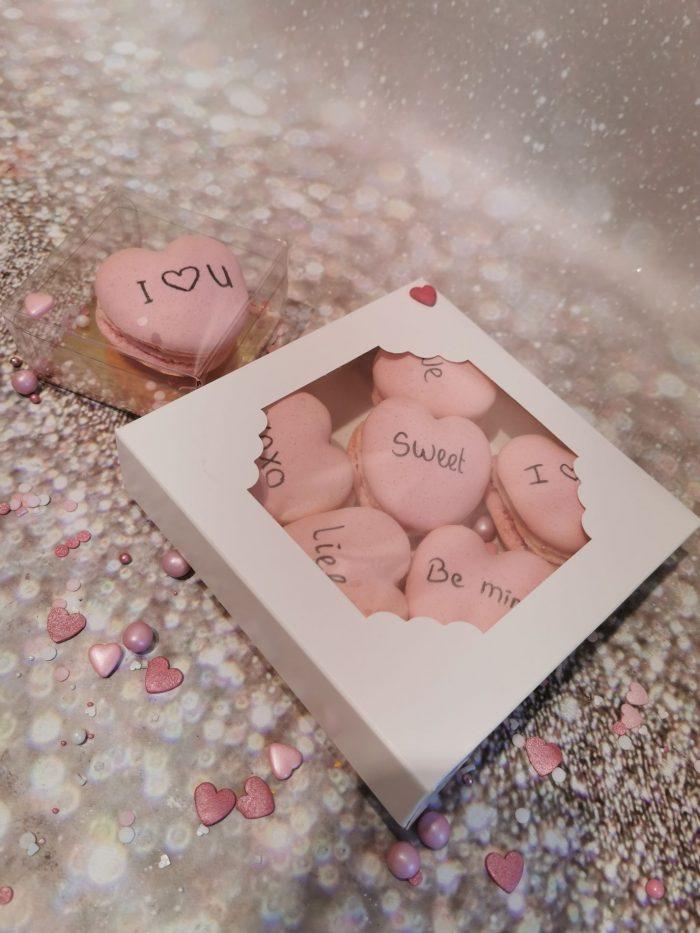 Valentijn hartenmacaron box