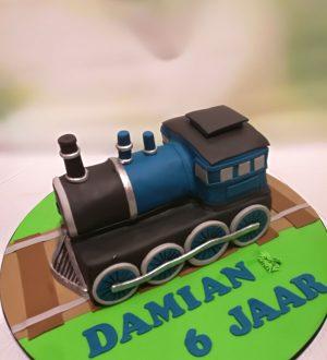 Treintaart, locomotief taart