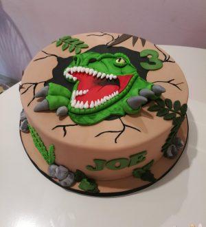 T rex, dinosaurus taart