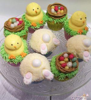 Paascupcakes,  voorjaarscupcakes