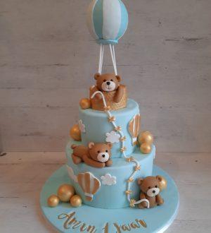 Beren luchtballon taart