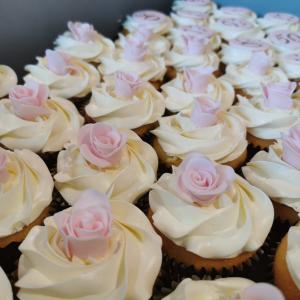 cupcake met fondant roosje