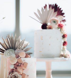 Bruidstaart met Palmbladeren