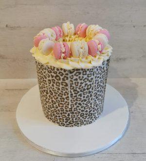 lady leopard cake