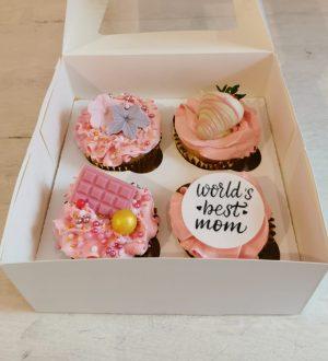 Moederdag cupcake doosje