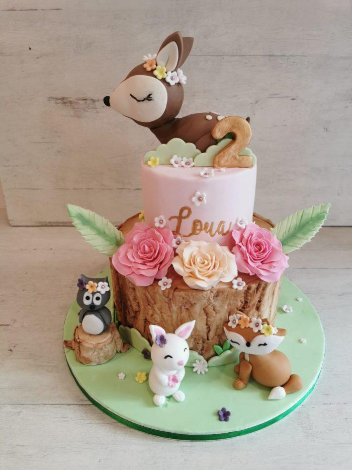 Bosdieren taart