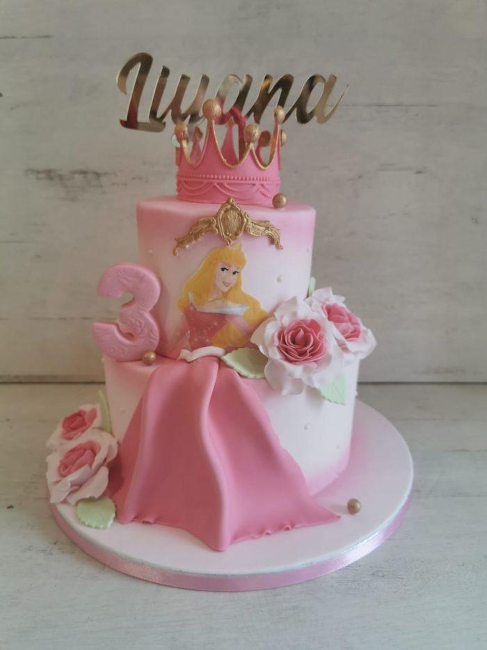 Doornroosje prinsessen taart