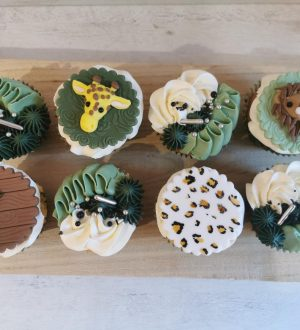 Luxe Jungle cupcakes