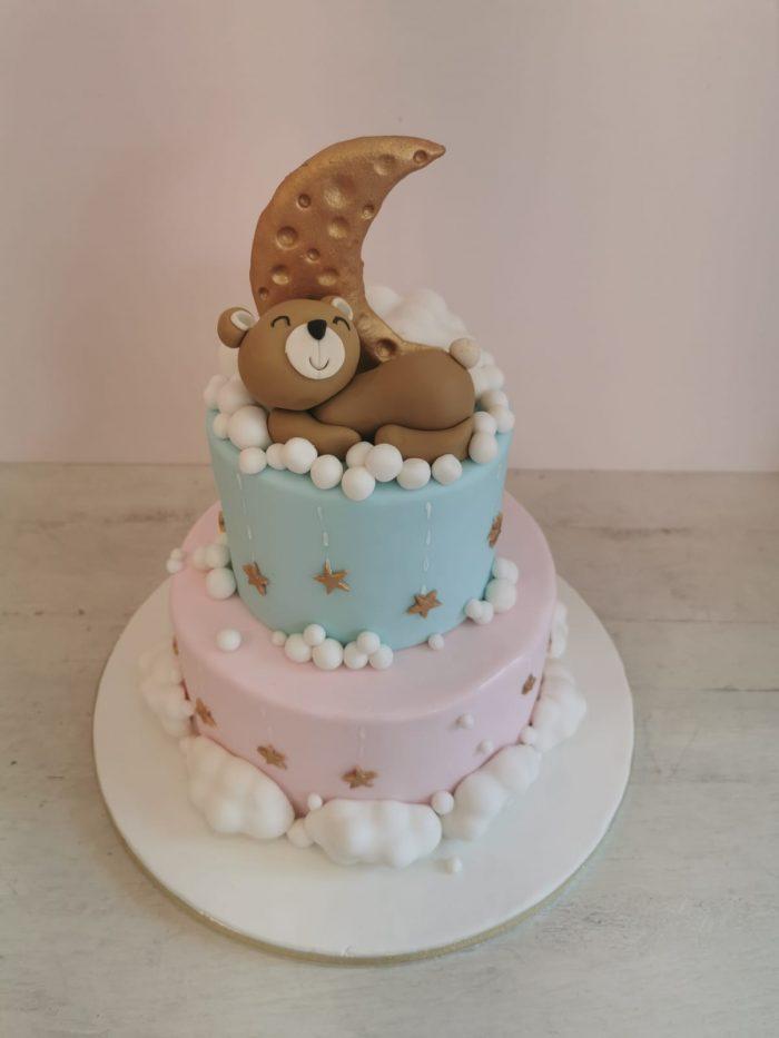 In de wolken beren baby taart