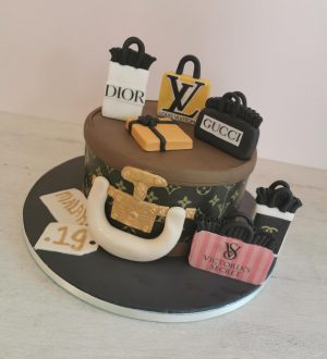Luxe shopping bag tas taart