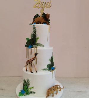 Jungle taart chique